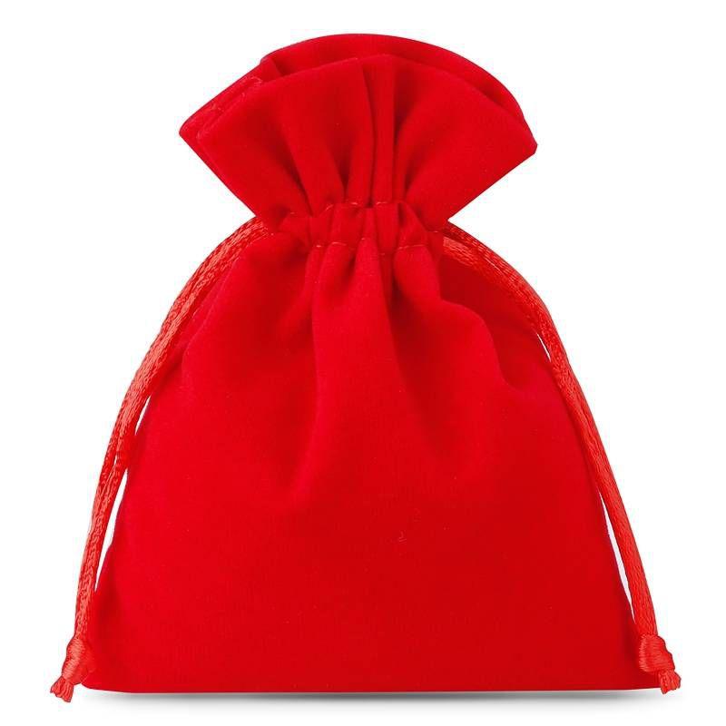 10 stuks Fluwelen zakjes 11 x 14 cm - rood