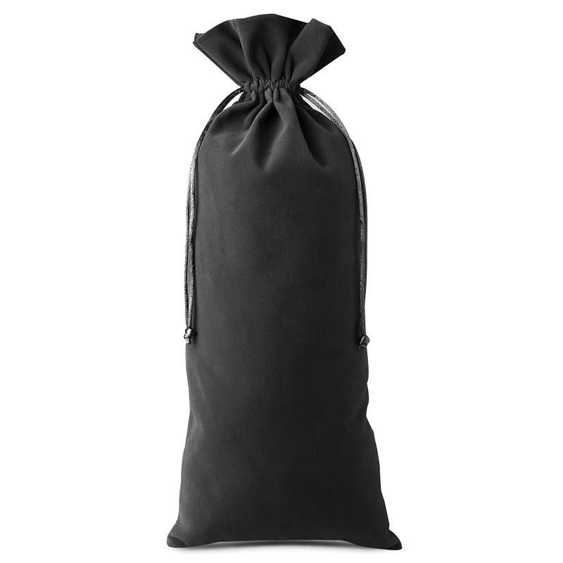 10 stuks Fluwelen zakjes 11 x 20 cm - zwart