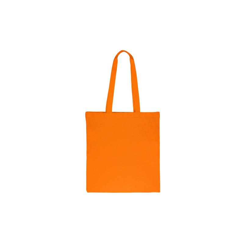 1 st. Een katoenen tas van 38 x 42 cm met lange hengsels - oranje